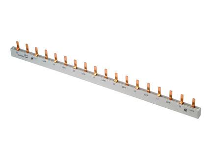 Profile Barrette à broches 10mm² 18 modules