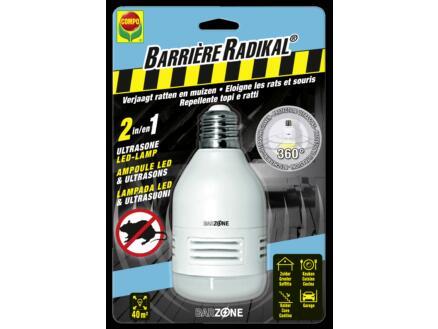 Compo Barrière Radikal ultrasone ratten- en muizenverjager met LED lamp tegen ratten en muizen