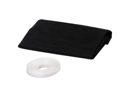 CanDo Basic muggengaas met klittenband 130x150 cm zwart