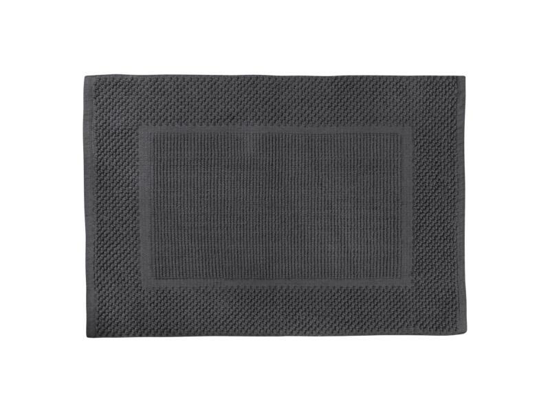 Differnz Basics badmat 80x50 cm donkergrijs