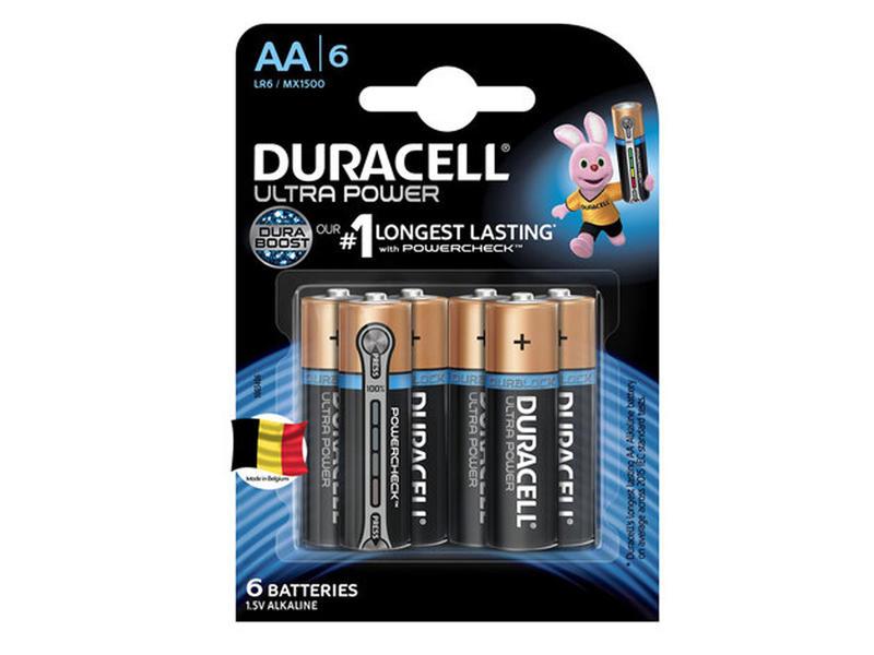 Duracell Batterij  alkaline Ultrapower AA 6 stuks