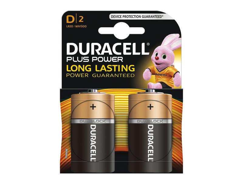 Duracell Batterij Duracell Plus Power type D LR20 1,5V 2 stuks