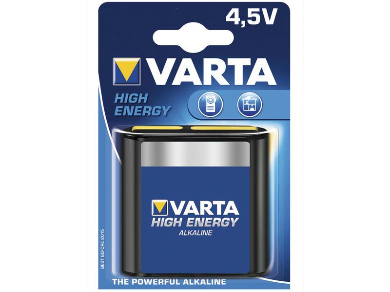 Varta Batterij High Energy 4,5V plat