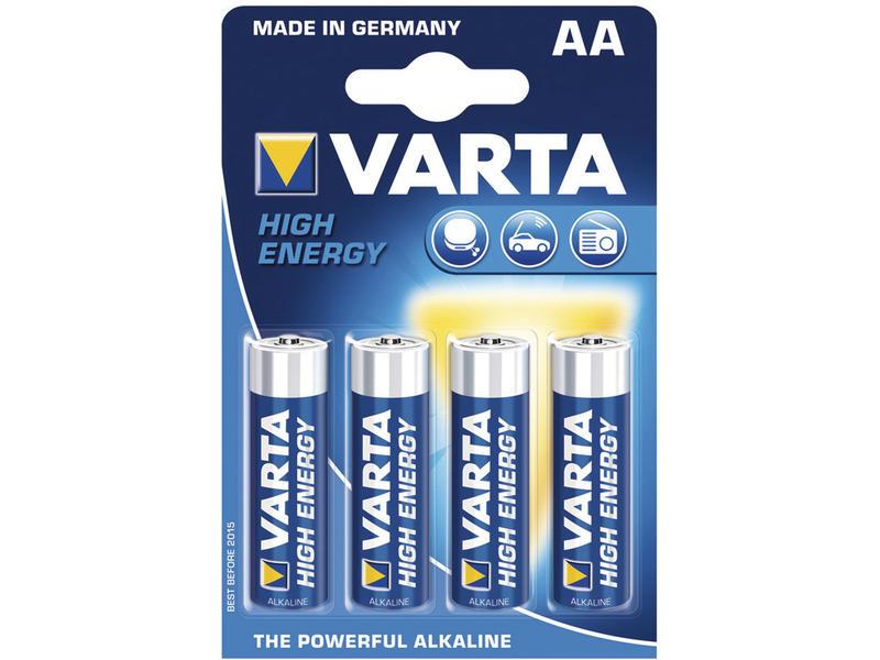 Varta Batterij High Energy AA 1,5V 4 stuks