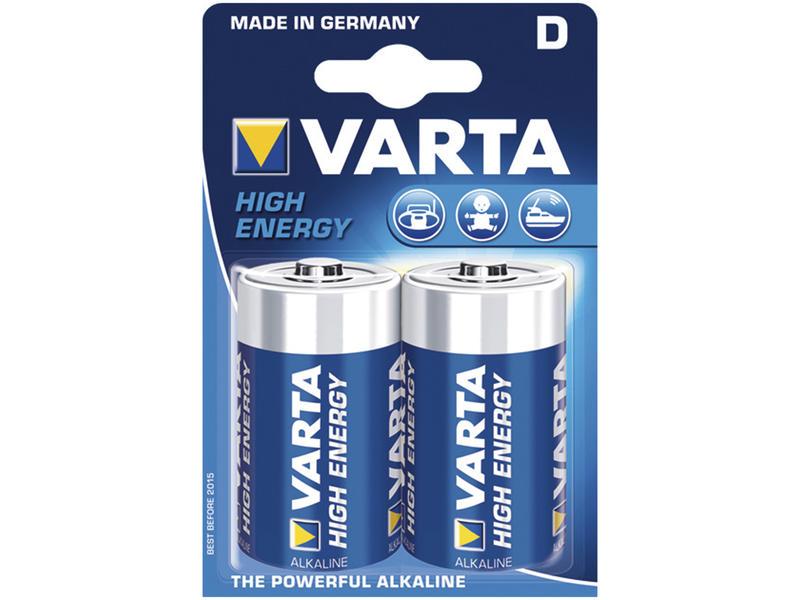 Varta Batterij High Energy D 1,5V 2 stuks