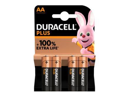 Duracell Batterij Plus P1,5V AA 4 stuks
