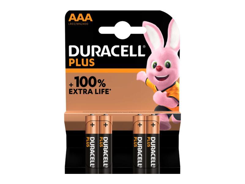 Duracell Batterij Plus P1,5V AAA 4 stuks
