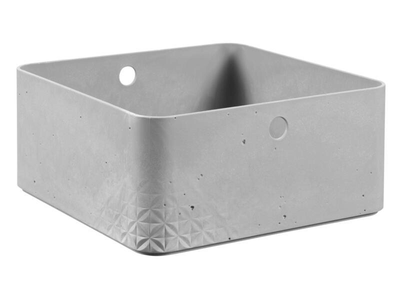 Curver Beton bac de rangement 8,5l gris clair | Hubo