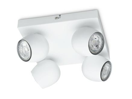 Prolight Bola spot de plafond LED 4X3W GU10