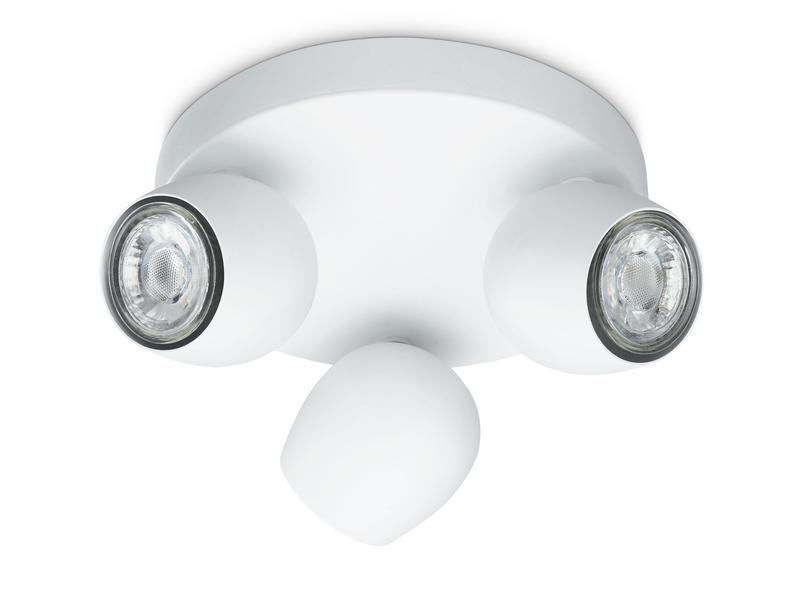 Prolight Bola spot de plafond LED GU10 3x3W