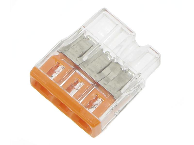 Borne 3x 0,5-2,5 mm² orange 10 pièces