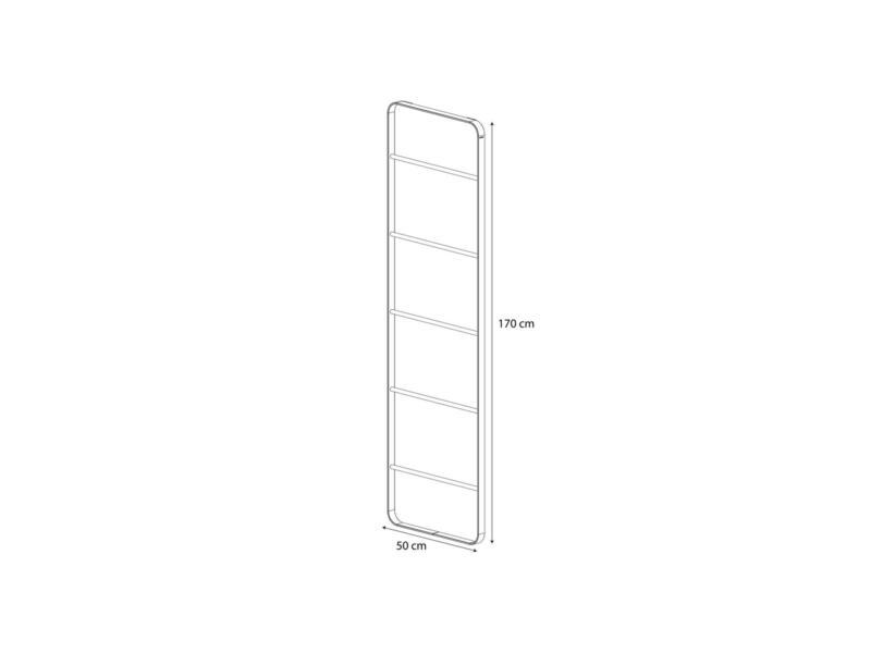 Sealskin Brix handdoekrek ladder 50cm wit