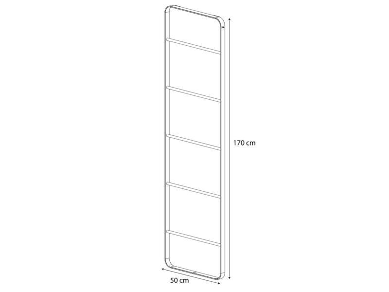 Sealskin Brix handdoekrek ladder 50cm zwart