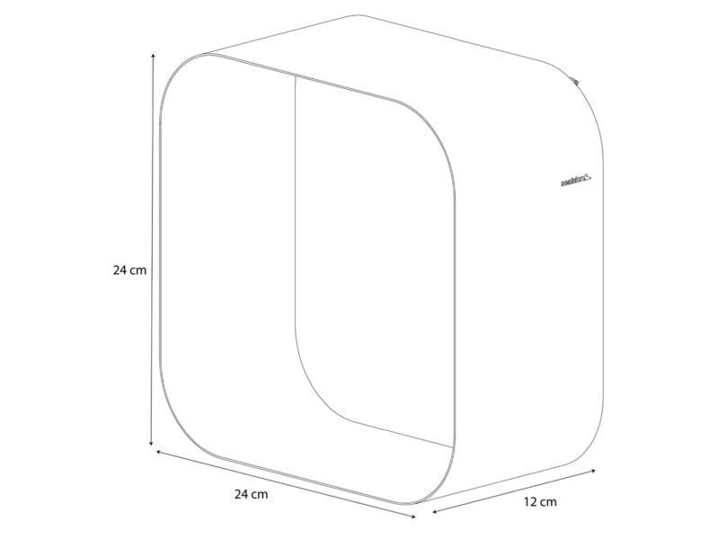 Sealskin Brix wandkubus 24cm wit
