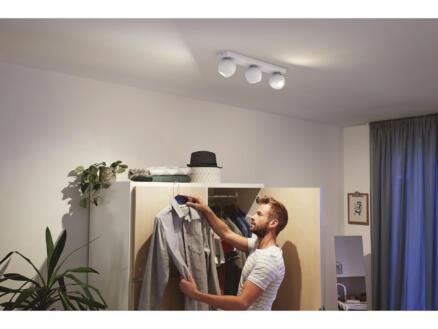Philips Hue Buckram LED balkspot GU10 3x5,5 wit + dimmer