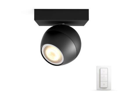 Philips Hue Buckram LED wandspot GU10 5,5W + dimmer zwart