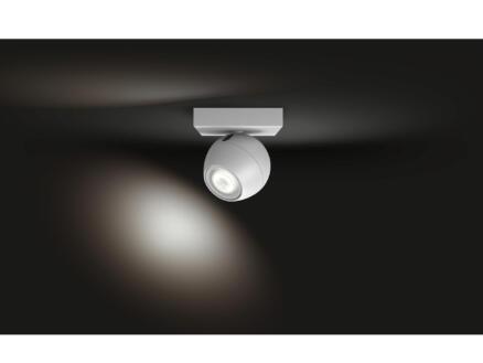 Hue Buckram spot LED mural GU10 5,5W blanc + dimmer
