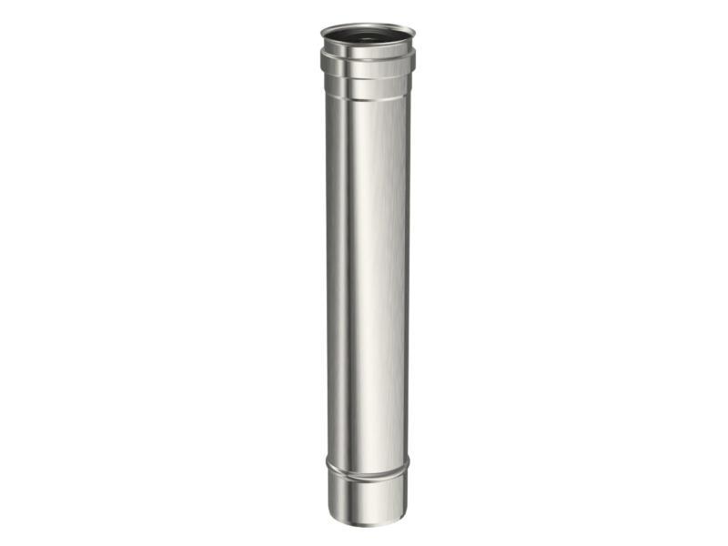 Saninstal Buis voor pelletkachel inox 80mm 50cm