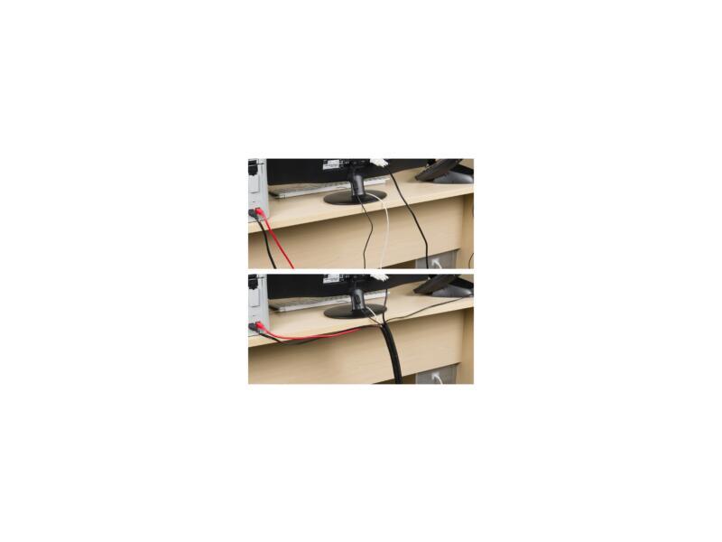 Cable Tidy Tube kabelgoot 1,1m zwart
