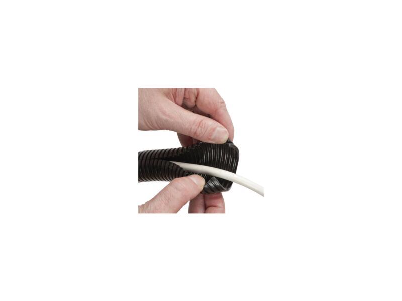 D-Line Cable Tidy Tube rangement de câbles 1,1m noir
