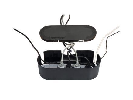 D-Line Cable Tidy Unit kabeldoos smal zwart