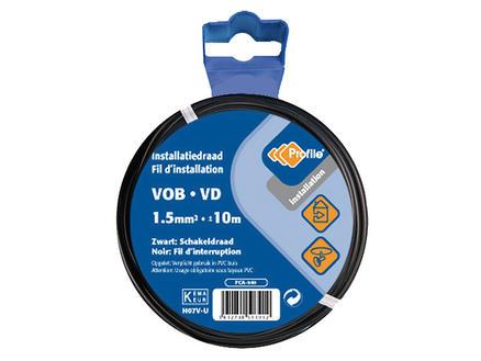 Profile Câble VOB 1,5 noir 10m blister