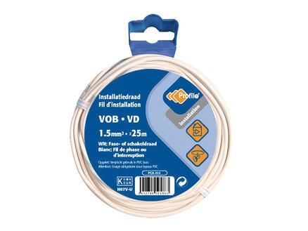 Profile Câble VOB 1,5mm² 25m blanc