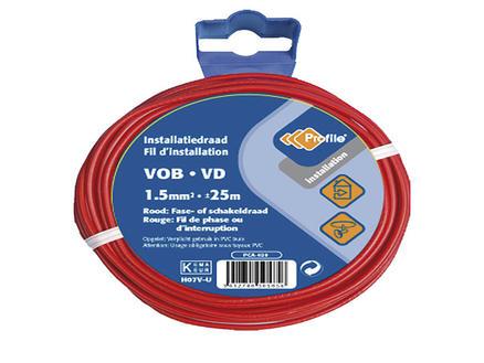 Profile Câble VOB 1,5mm² 25m rouge