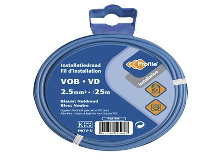 Profile Câble VOB 1G 2,5mm² 25m bleu