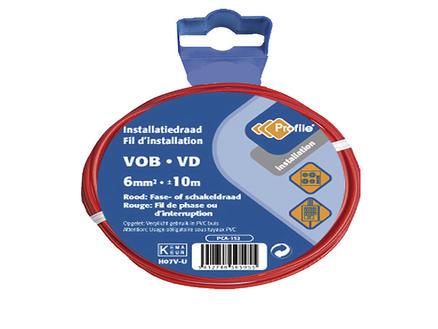 Profile Câble VOB 6mm² 10m rouge