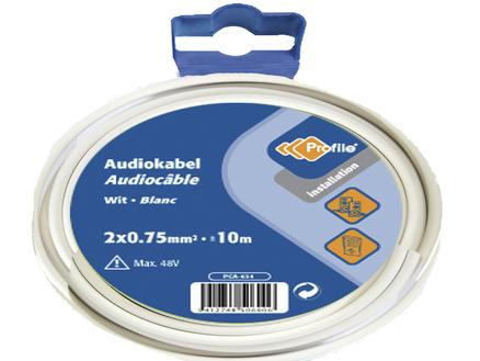 Profile Câble audio 2G 0,75mm² 10m blanc