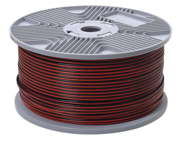Profile Câble audio 2G 0,75mm² rouge et noir par mètre courant