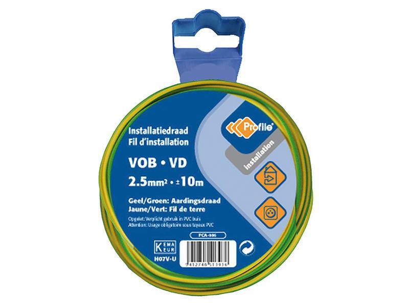 Profile Câble de terre VOB 2,5 jaune-vert 10m blister