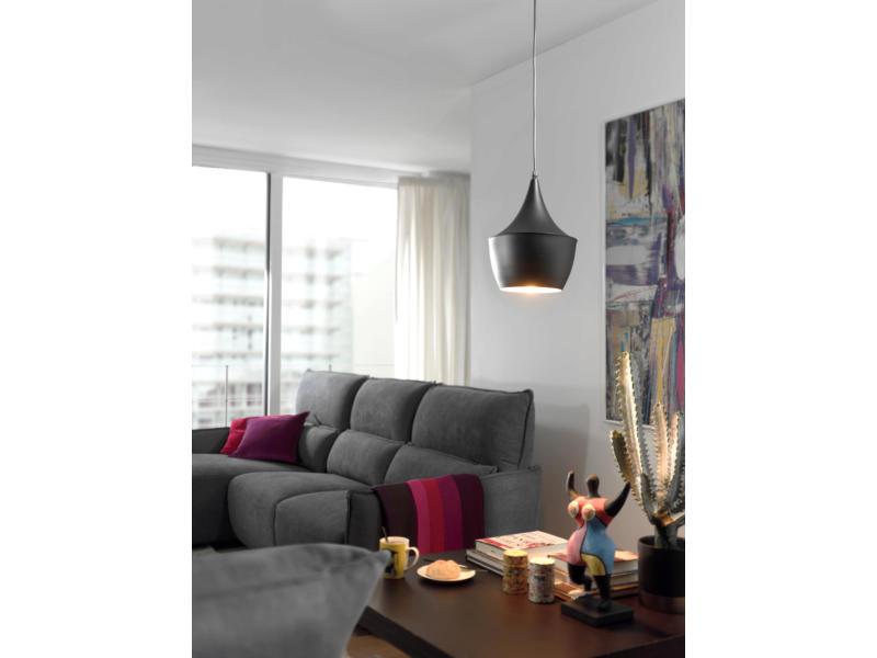 MEO Caluso hanglamp E27 60W zwart