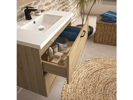 Allibert Cambridge meuble lavabo 80cm 2 tiroirs chêne hamilton