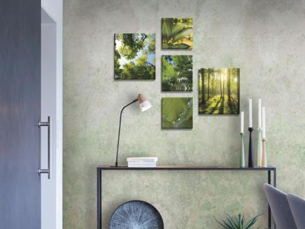 Art for the Home Canvasdoek set 60x80 cm groene stilte 5 stuks