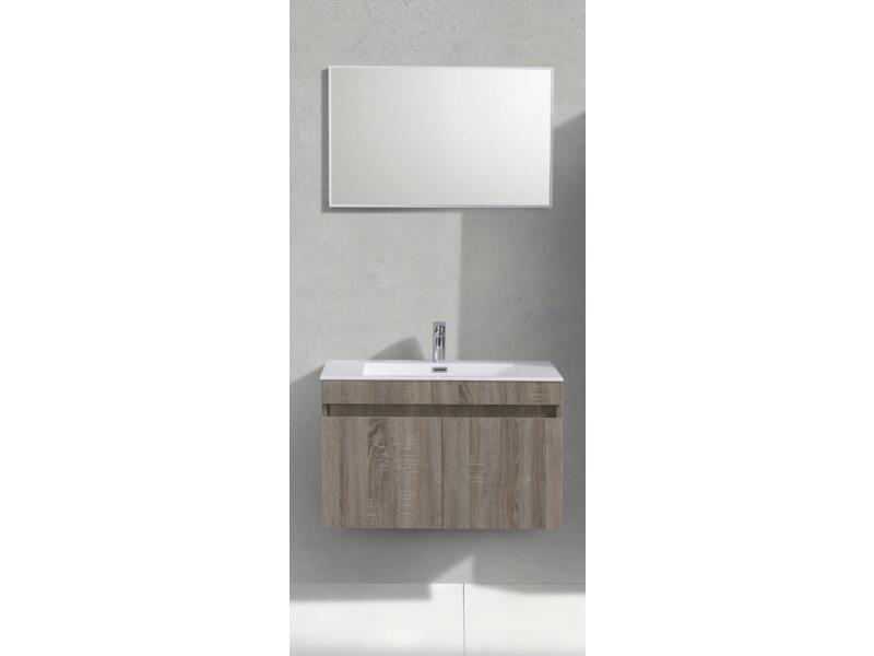 Sanimar Capri badkamermeubel 80cm 2 deuren licht rustiek eiken