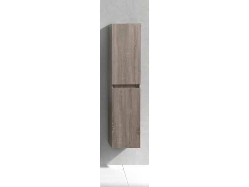 Sanimar Capri kolomkast 35cm 2 deuren omkeerbaar licht rustiek eiken