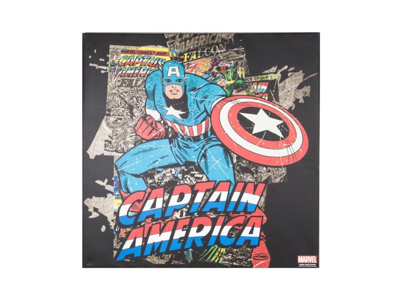 Captain America toile carrée 70x70 cm