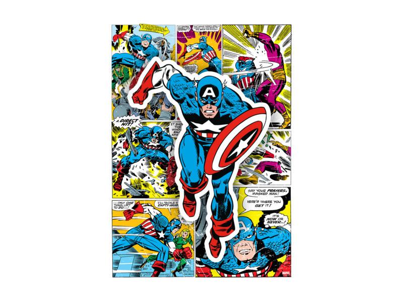 Captain America toile imprimée 50x70 cm héro