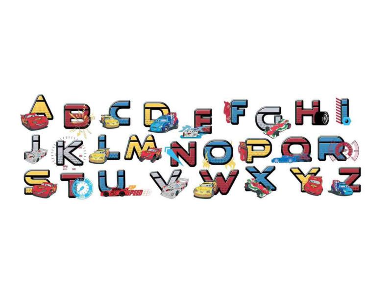 Disney Cars stickers muraux alphabet multicolore