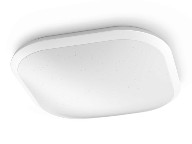 Philips Cavanal plafonnier LED 18W carré blanc dimmable