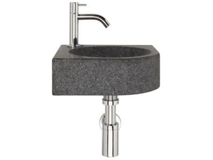 Differnz Chefren lave-mains 30cm robinet compris gris