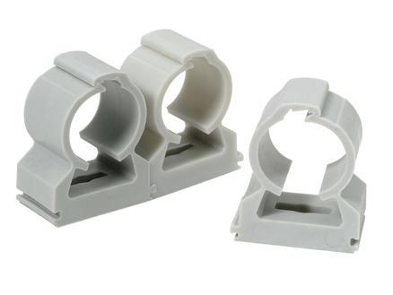 Profile Clip serre-câble 20mm gris 20 pièces
