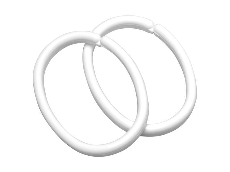 Sealskin Clips anneaux rideaux de douche 12 pièces blanc