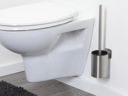 Tiger Colar WC-borstel met houder hangend geborsteld inox