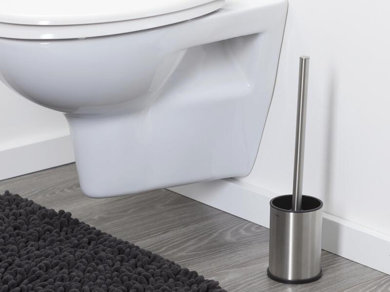 Tiger Colar brosse WC avec support à poser inox brossé