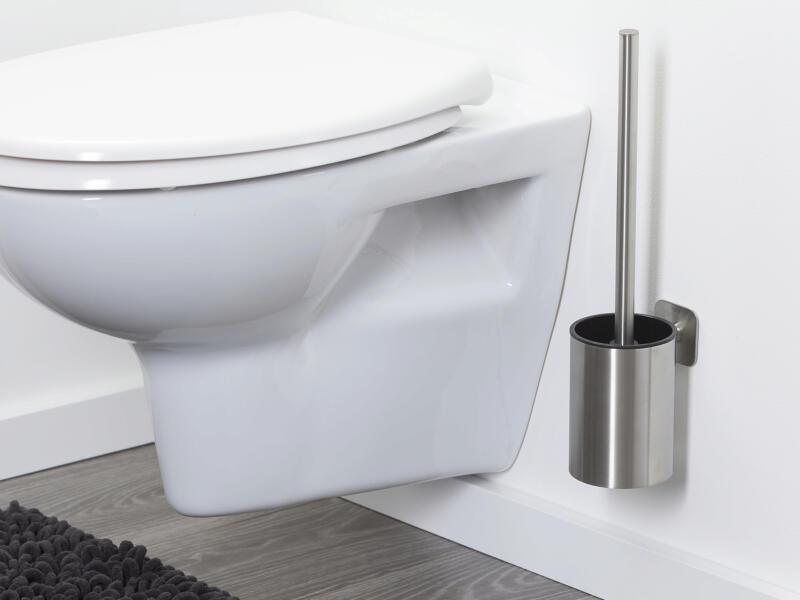 Tiger Colar brosse WC avec support mural inox brossé