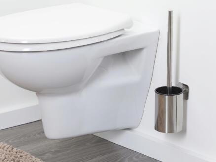 Tiger Colar brosse WC avec support mural inox poli