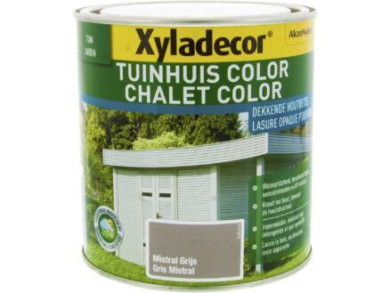 Xyladecor Color houtbeits tuinhuis 1l mistral grijs